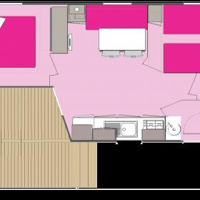 camping-mobil-home-bretagne-3-fleurs-4-personnes-plan
