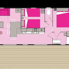 camping-mobil-home-bretagne-Lodge-Panoramic-Premium-4-personnes-plan